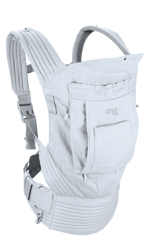 Onya Cruiser Soft Structured Carrier (SSC) in Pearl Grey.