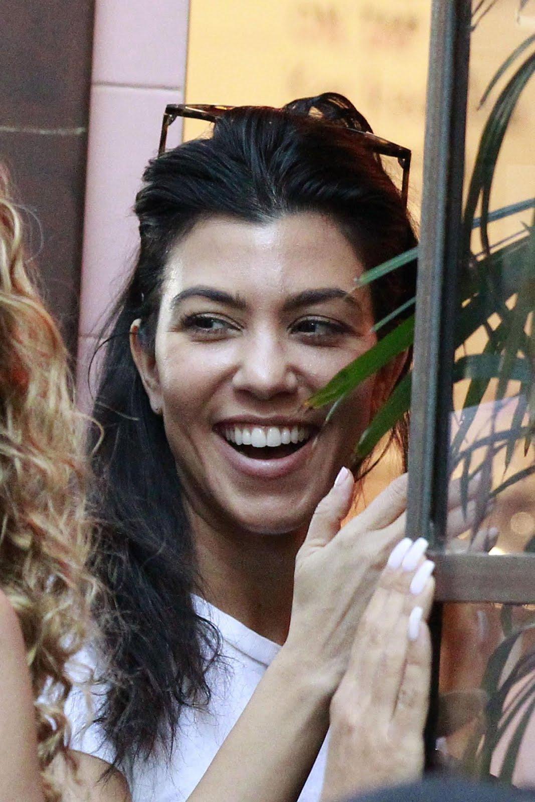 Photos of Kourtney Kardashian Leaves Alfred Tea Room in West Hollywood