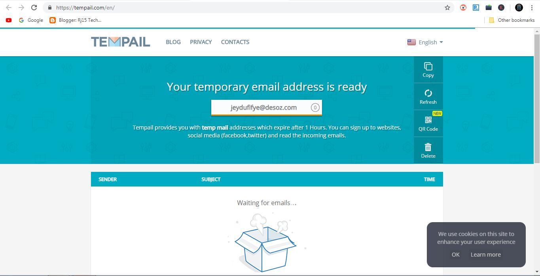 Rj15 Technical: Temporary mail address