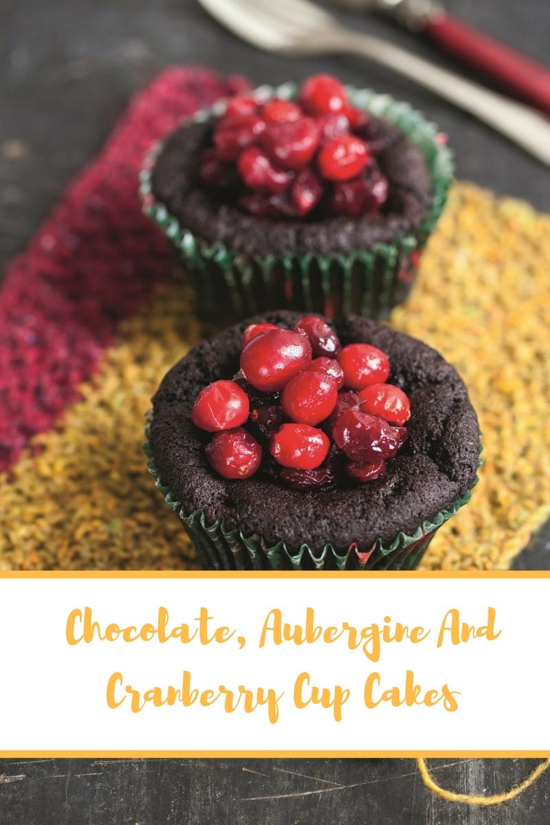 Chocolate, Aubergine And Cranberry Cake