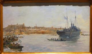 το έργο Το Λιμάνι της Καβάλας του Βασίλειου Χατζή στην Εθνική Πινακοθήκη
