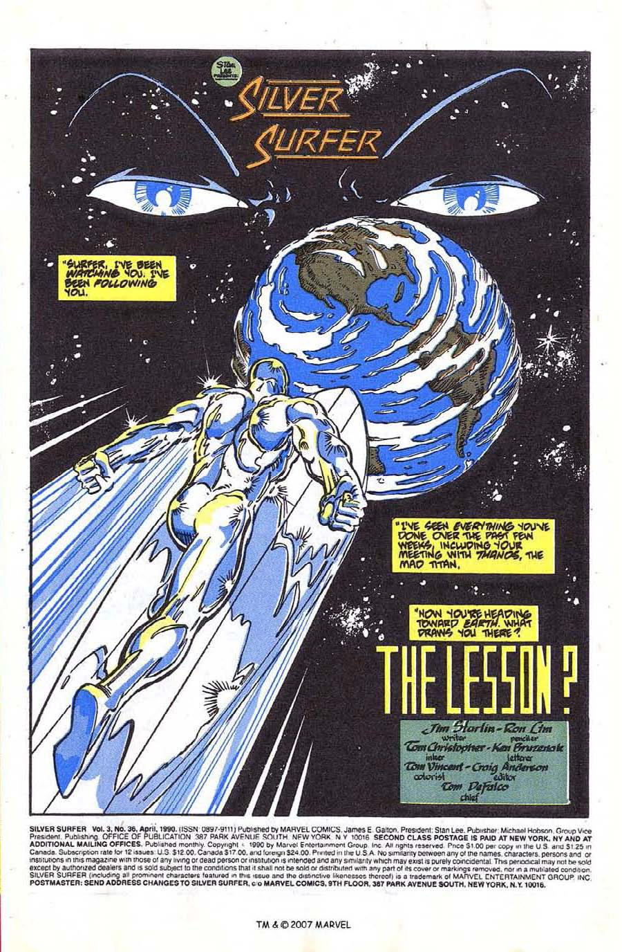 Read online Silver Surfer (1987) comic -  Issue #36 - 3