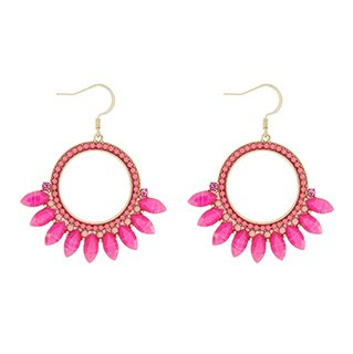SS18 April New In Jewellery Accessorize Antigua Hoop Earrings Pink - Jewellery Blog - Jewellery Curated