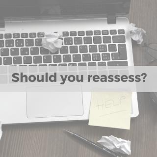 Job search; reassess