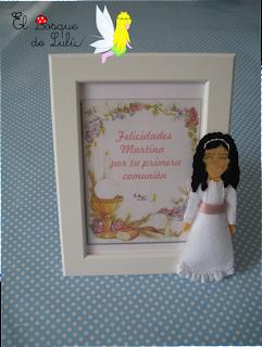 marco-comunión-personalizado-fieltro-elbosquedelulu-muñeca-comunión-felt-feltro-feltdoll