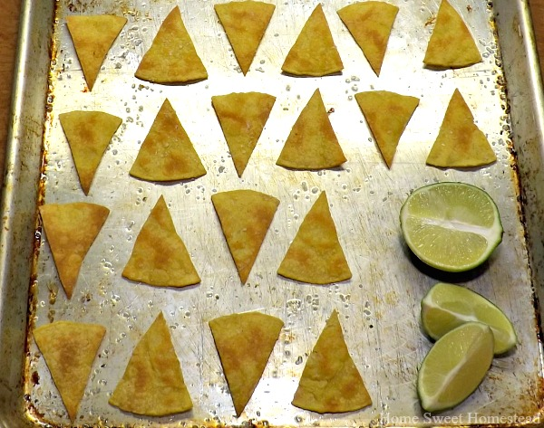 Baked Lime Tortilla Chips - Home Sweet Homestead