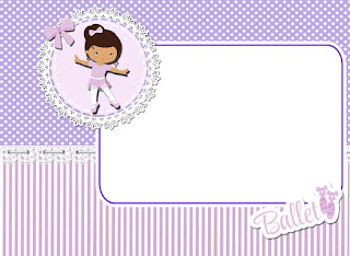 Ballerina in Purple: Free Printable Invitation, Party Printables and Boxes.