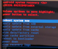 android recovery mode factory reset
