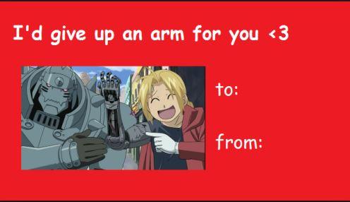 PLEASE Anime Anime Valentine Cards – Anime Valentines Card
