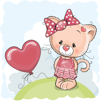 Heart Balloon Kitty