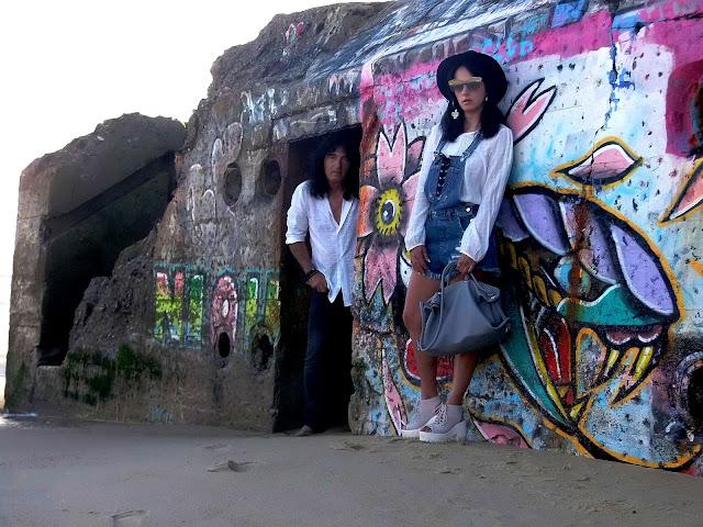 fashionblogger, art, photo, photograph, Avilés, oviedo, gijón, asturias, francia, France, Capbreton, bunker, historia, history, overalls, dungarees, denim, beach