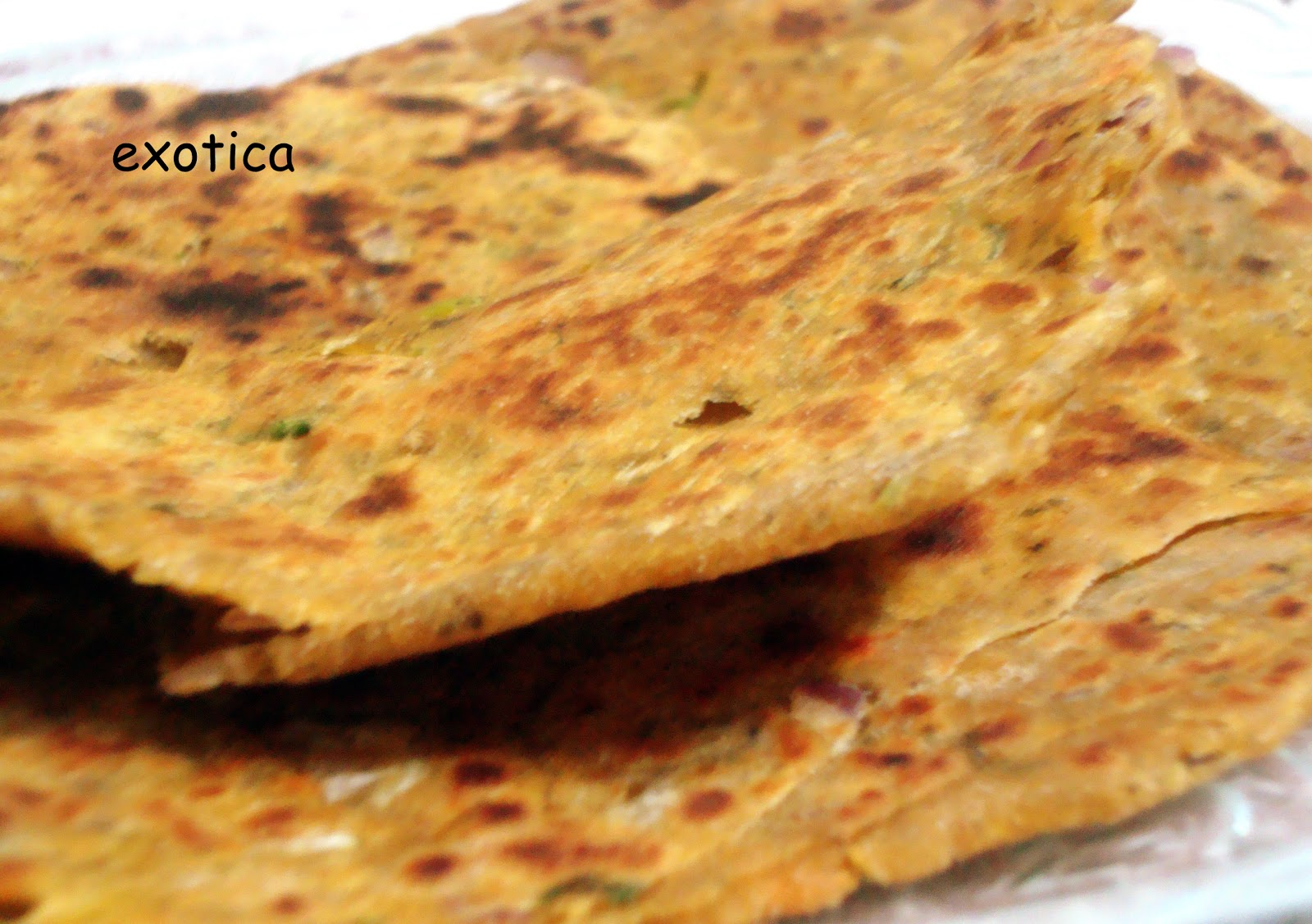 Gramflour stuffed flat bread