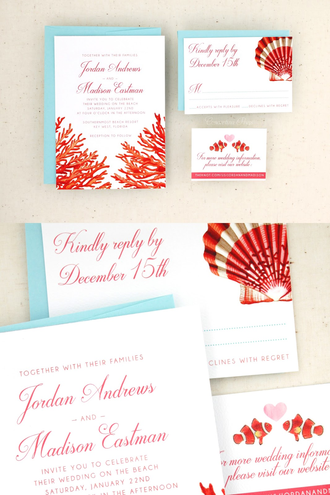 Key West destination Wedding Invitations