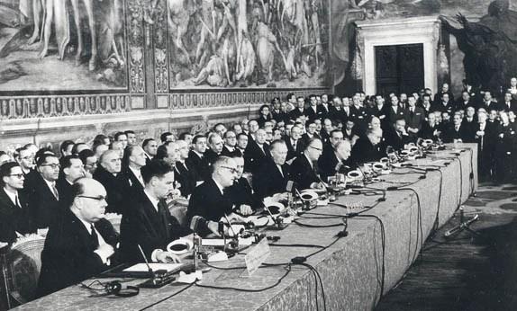 Αποτέλεσμα εικόνας για Συνθήκες της Ρώμης του 1957