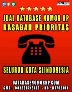 Jual Database Nomor HP Nasabah Prioritas