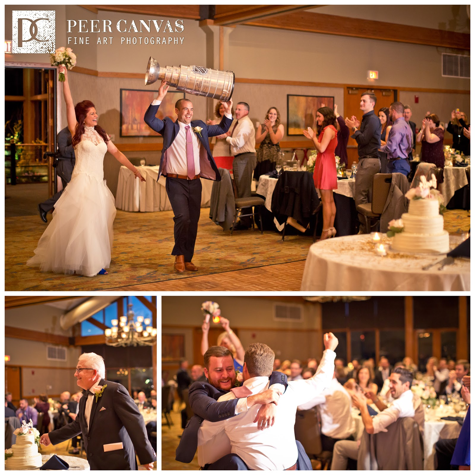 Kim And Adam Having A Blast Cutting Their Cake The Gles Started Clinking For Kiss Groom Wasn T Around So Best Man Was Cheered On By