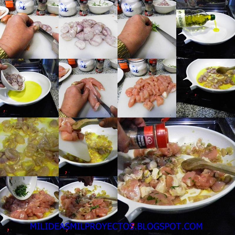 preparacion paso a paso de pollo a la naranja