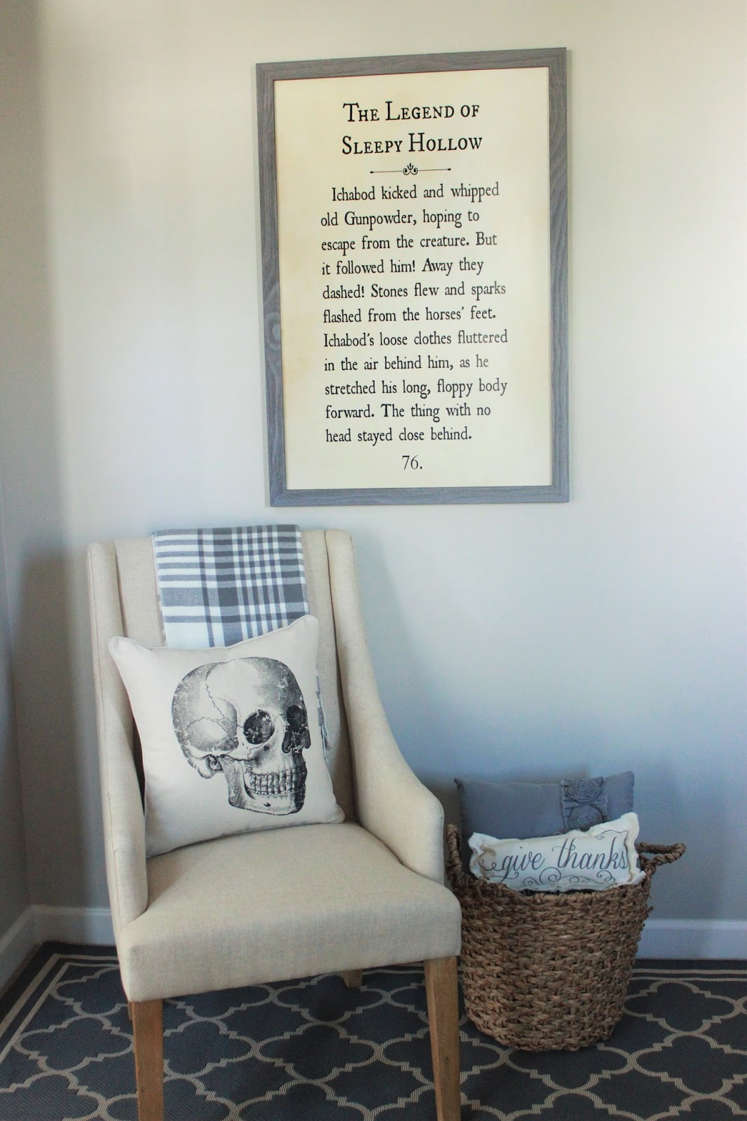 Diy Quot Sleepy Hollow Quot Book Page Wall Art Delightfully Noted