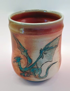 Wood Fired Dragon Yunomi by Future Relics Pottery
