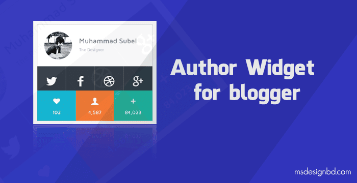 Blogger Author Widget with CSS3