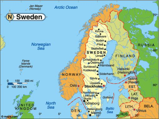 Nordic Trek Swede Facts - Sweden map facts