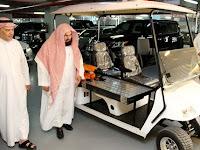 Syeikh Sudais Resmikan Mobil Khusus Lansia di Masjidil Harom
