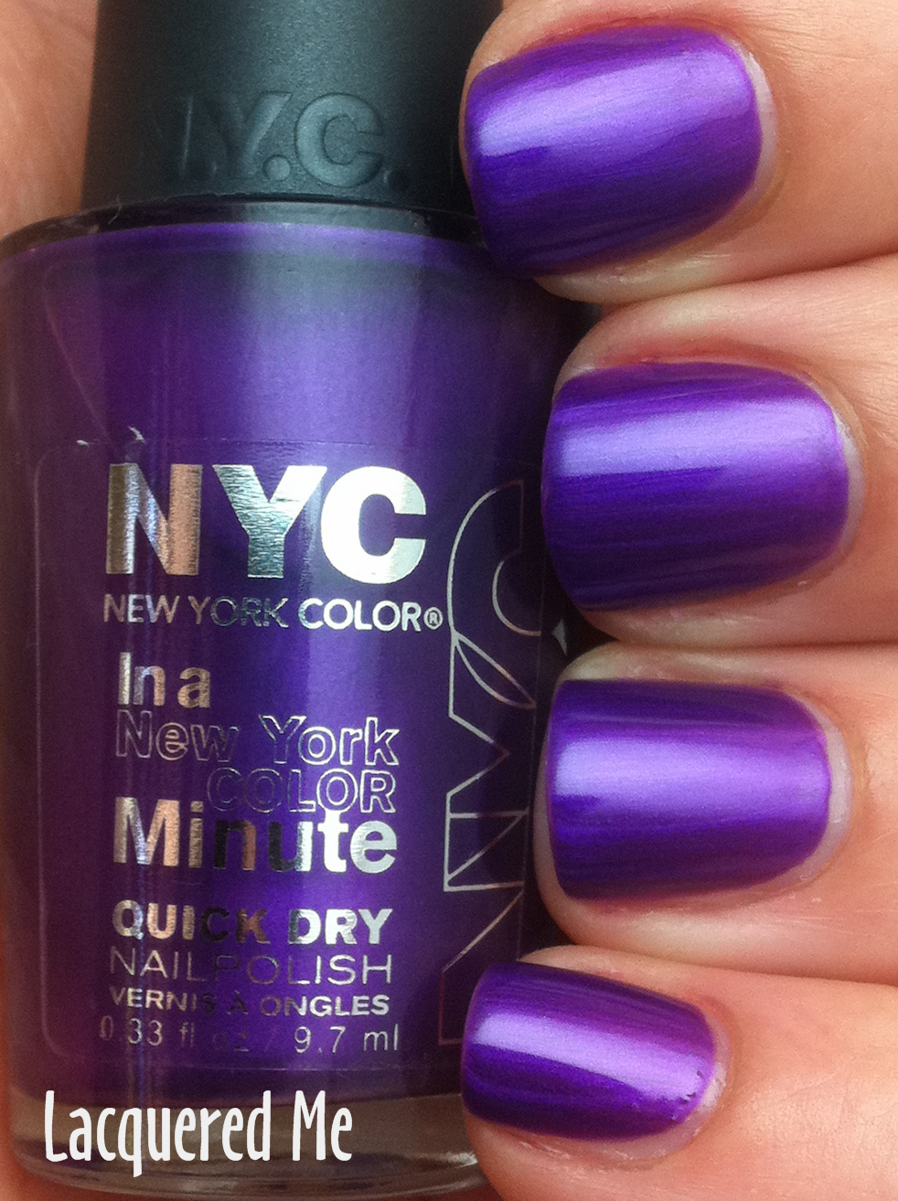 Lacquered Me Nyc Color Prince Street Pure Ice Busted