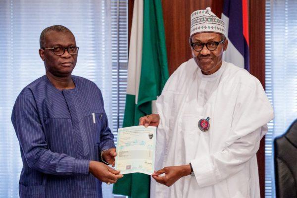 Dr Iyi Uwadiae, WAEC registrar presents Buhari's school certificate