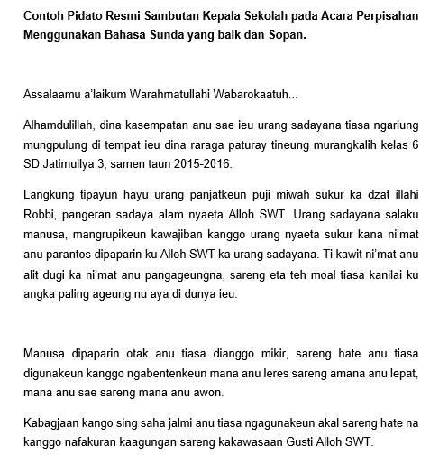 Kata Kata Perpisahan Sekolah Bahasa Sunda
