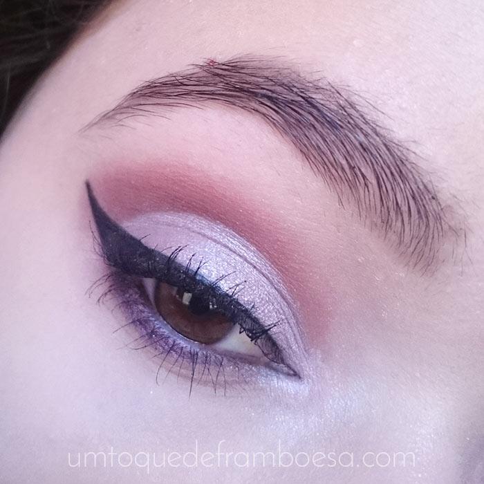 Cut crease lilás e vinho tutorial passo a passo
