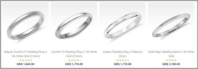 5mm White Gold Wedding Band 78 Nice  http bluenile hk