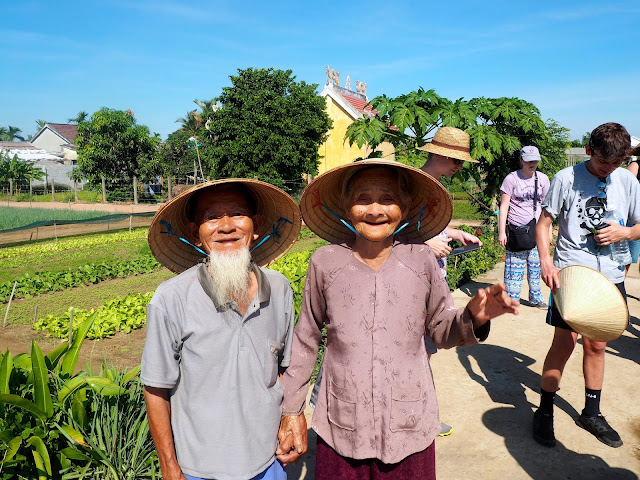 Elderly married Vietnamese couple living in the countryside around Hoi An, Vietnam