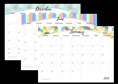 2018 landscape calendar