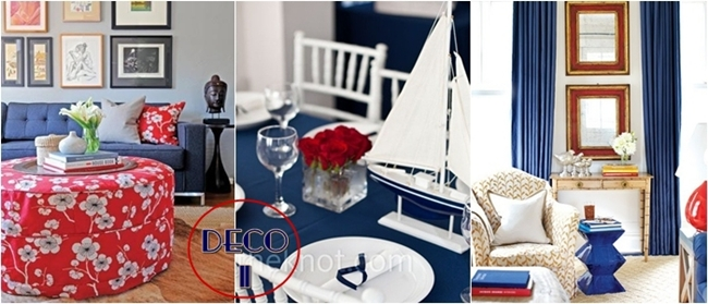 blue and red home decor ideas