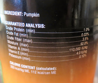 Authority's canned pumpkin has just one ingredient; PUMPKIN!