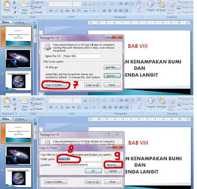 cara proteksi powerpoint dengan package for cd 3