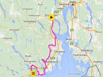 langesund kart Startlister: Tour of Norway 2016 1. etappe Drammen Langesund kart  langesund kart