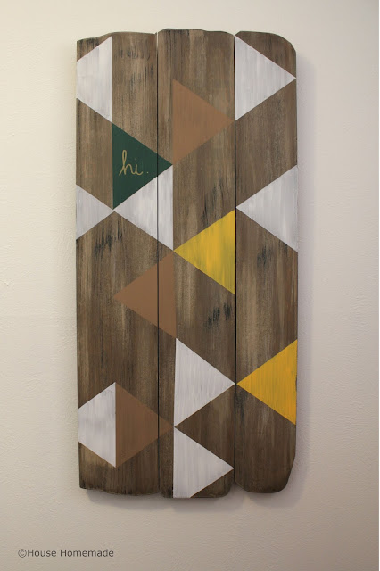 update wall art: wood finish with paint