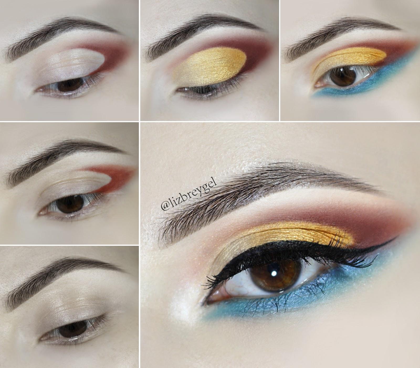 boho indian inspired coachella makeup look brown eyes