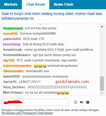 bitcoin chat room