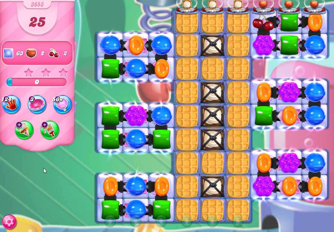 Candy Crush Saga level 3653