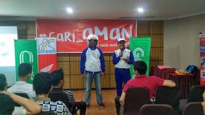 Astra Motor Pontianak Kampanyekan #Cari_aman ke Para Driver Grab Bike