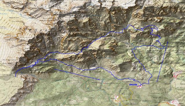 Mapa ruta Puerto de Edes - Untuje - Cámara
