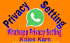 WhatsApp Privacy Setting Kaise Kare Puri Jankari In Hindi
