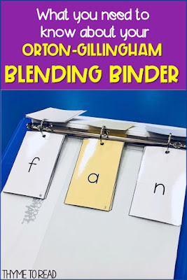 why you should keep your phoneme grapheme cards in a binder