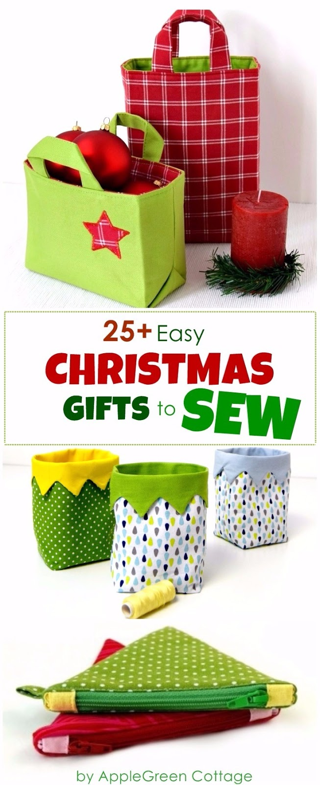 25 Diy Christmas Gifts To Sew With Patterns