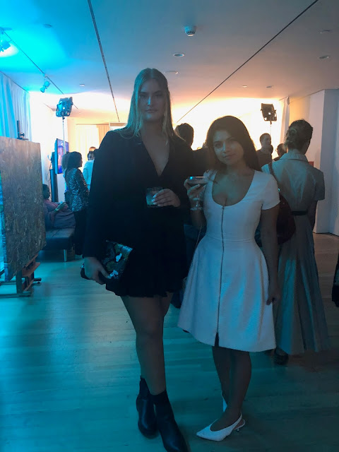 Kelly Fountain New York Fashion blogger and plus size model Sarah Bolt at Belvedere Vodka Party