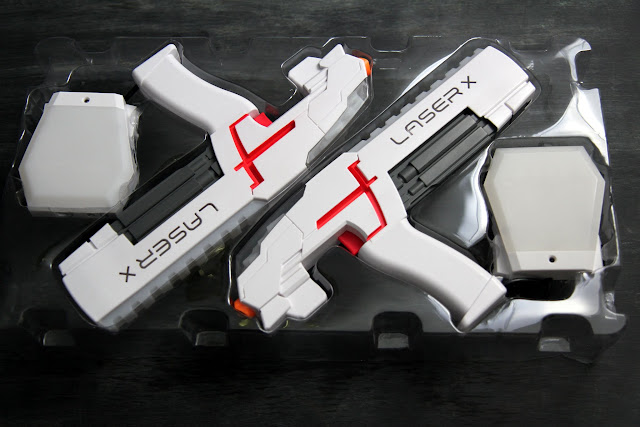 Get kids outside and off the couch with this amazing, real-life laser tag game called Laser X. See our review for more details!