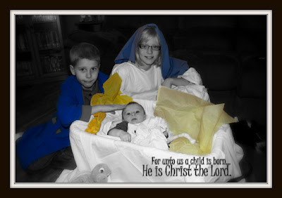 for unto us a child is born, He is Christ the Lord