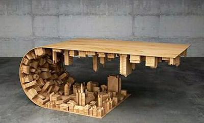 model meja unik dari kayu